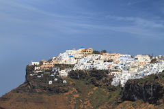 View of Santorini island Stock Images