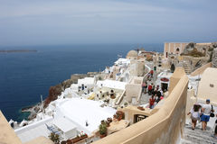 View on Santorini Island in Greece. Stock Image