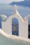 View of santorini. Island with soft focus lens Royalty Free Stock Images