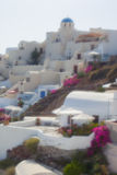 View of santorini. Island with soft focus lens Stock Photography