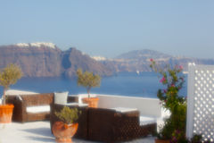 View of santorini. Island with soft focus lens Royalty Free Stock Photos