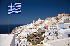 View on Santorini's city Ia. Stock Photography