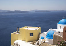 View of Santorini's island Royalty Free Stock Images