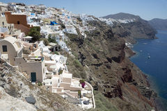 View of Santorini's island Royalty Free Stock Photography