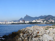 View from Santos Dumont Airport. Corcovado view from Santos Dumont Airport - Rio de Janeiro - Brazil Stock Images
