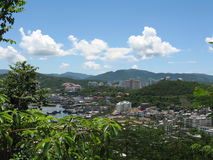 View on Sanya from Deer Mountain. View on Sanya town from Deer Mountain in Sanya, Hainan, China Stock Photography