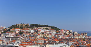 View of the Sao Jorge Castle Stock Photos