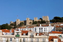 View of the Sao Jorge Castle Stock Image