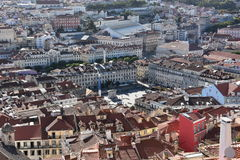 View from Sao Jorge Castle in Lisbon, Portugal Royalty Free Stock Image