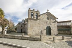 Sao Miguel de Tresouras Mother Curch in Baiao, Portugal royalty free stock image