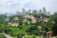View of Sao Paolo, Brazil. View of one of districts of Sao Paolo, Brazil royalty free stock photo