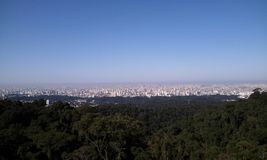 View of Sao Paulo city, Brazil. Royalty Free Stock Image