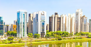 View of Sao Paulo and the river Stock Photography