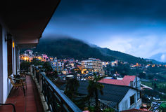 View of Sapa city from the hotel in the Evening, Sapa, Lao Cai, Stock Image