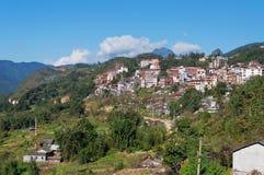 View of Sapa city. Vietnam. Aerial view of Sapa city. Vietnam royalty free stock image