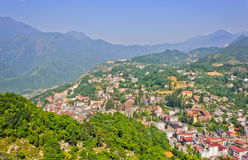View of Sapa lake and town Stock Photography