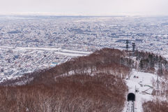 View of Sapporo city in winter Royalty Free Stock Photography
