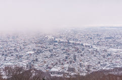 View of Sapporo city in winter Stock Photography
