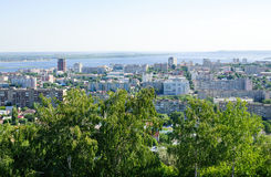 View on Saratov city from the top Royalty Free Stock Photography