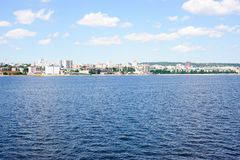 View on Saratov city from Volga river Russia Stock Photography