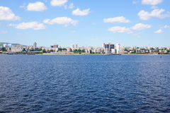 View on Saratov city from Volga river Russia Royalty Free Stock Photos