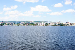 View on Saratov city from Volga river Russia Royalty Free Stock Photo