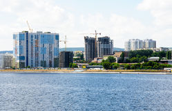 View on Saratov city from Volga river Russia Stock Photo