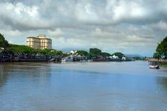View Sarawak river in Kuching city Stock Images