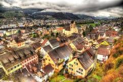 View of Sargans village in Switzerland Royalty Free Stock Image