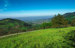 View from Sasbachwalden over the Rhine valley_Baden Wuerttemberg Stock Photo