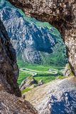 View from Sass Pordoi peak in Dolomiti Stock Photos