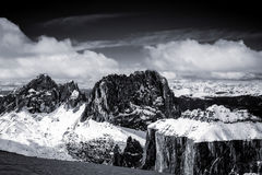 View from Sass Pordoi in the Upper Part of Val di Fassa Stock Image