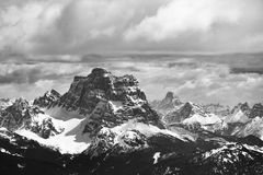 View from Sass Pordoi in the Upper Part of Val di Fassa towards Royalty Free Stock Photo