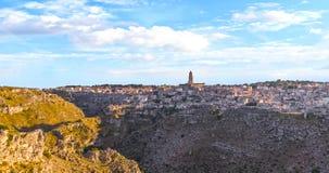 View of sassi di Matera,basilicata, Italy, UNESCO under blue sky Stock Photos