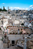 View of Sassi di Matera from Piazza Vittorio Veneto royalty free stock photo