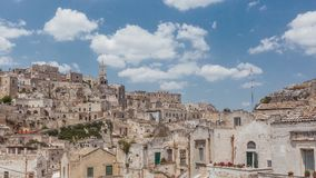 View of the Sassi of Matera, Italy royalty free stock image