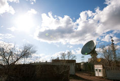 View of satellite dish Royalty Free Stock Photography