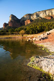 View of Sau reservoir in autumn. Catalonia Royalty Free Stock Images