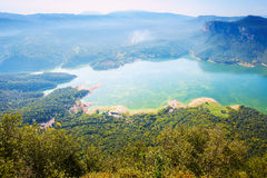 View of Sau reservoir  from high point  in  Catalonia,  Spain Stock Images