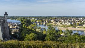 View of Saumur city, France stock images