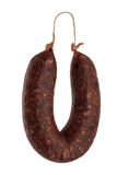 View of sausage on a white background.  stock photography