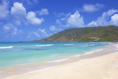 Savannah Bay in Virgin Gorda, BVI, Caribbean. View of Savannah Bay in Virgin Gorda, Caribbean stock images
