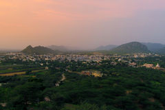 View from Savitri temple Stock Photo