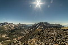 View of the Sawatch Range. Colorado Rocky Mountains. View of the Sawatch Range from the summit of Carbonate Mtn A royalty free stock photo