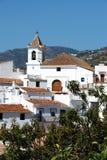 View of Sayalonga town and church. Royalty Free Stock Photos