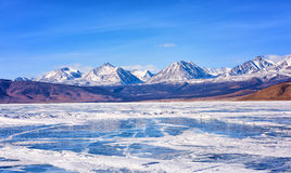 View of Sayan Mountains from Hovsgol Lake Royalty Free Stock Images