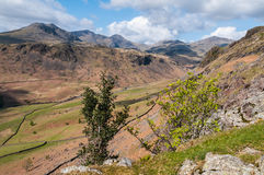 View of the Scafell Range from Hardknott Pass. Royalty Free Stock Photography