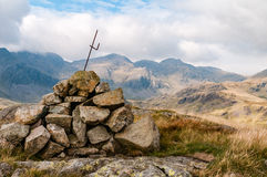 View of the Scafells in the English Lake District Royalty Free Stock Photos