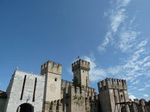 View at Scaligero Castle, Sirmione Royalty Free Stock Images