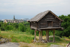 View of Scansen with a hut on chicken legs. Stock Photos